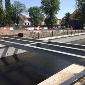 Wytwór, antykorozja, transport montaż dwóch kładek w m. Pruszcz Gdański