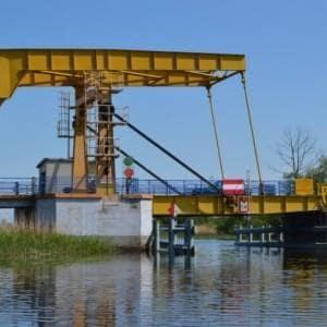 Remont zabytkowego mostu zwodzonego w m. Rybina