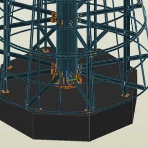 Konstrukcja stalowa Choinka 2